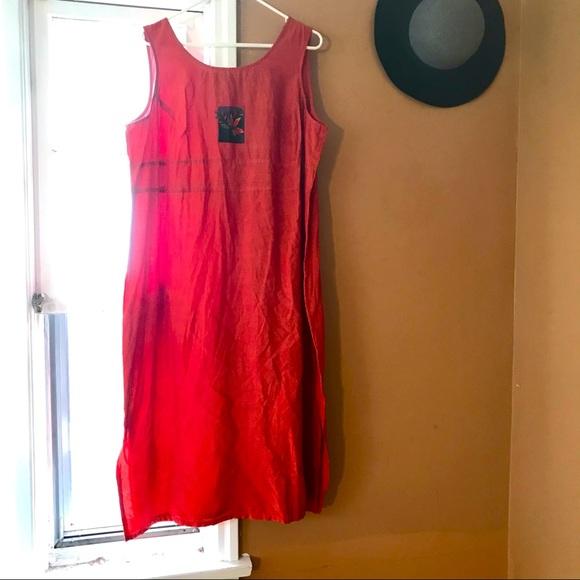 SAG HARBOR DRESS woman's petite orange jumper